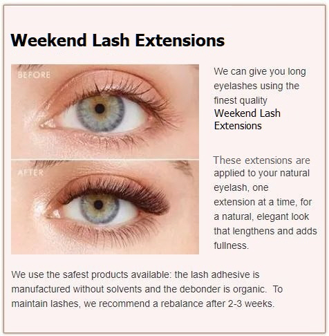 Weekend Lash Extensions